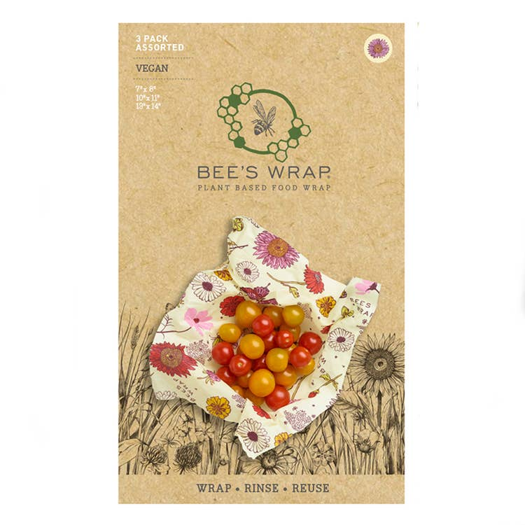 Vegan Wax Food Wrap Assorted Size 3-Pack