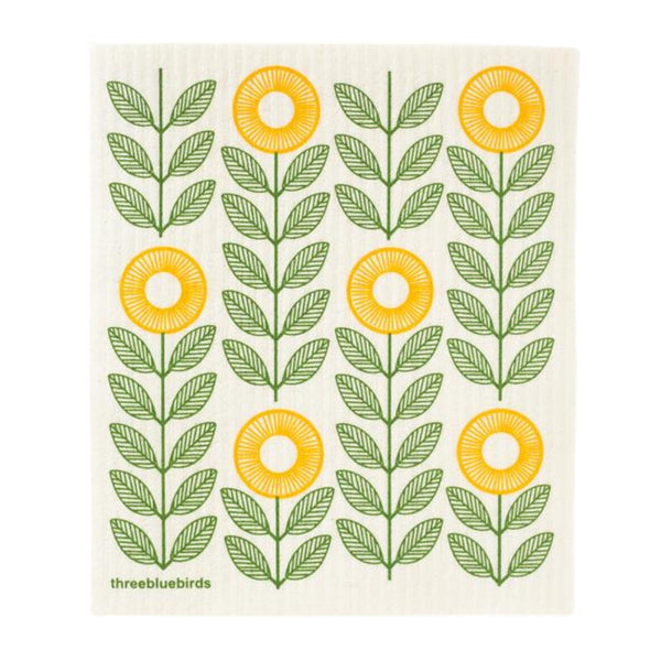 Swedish Dishcloth - Yellow Sunflowers