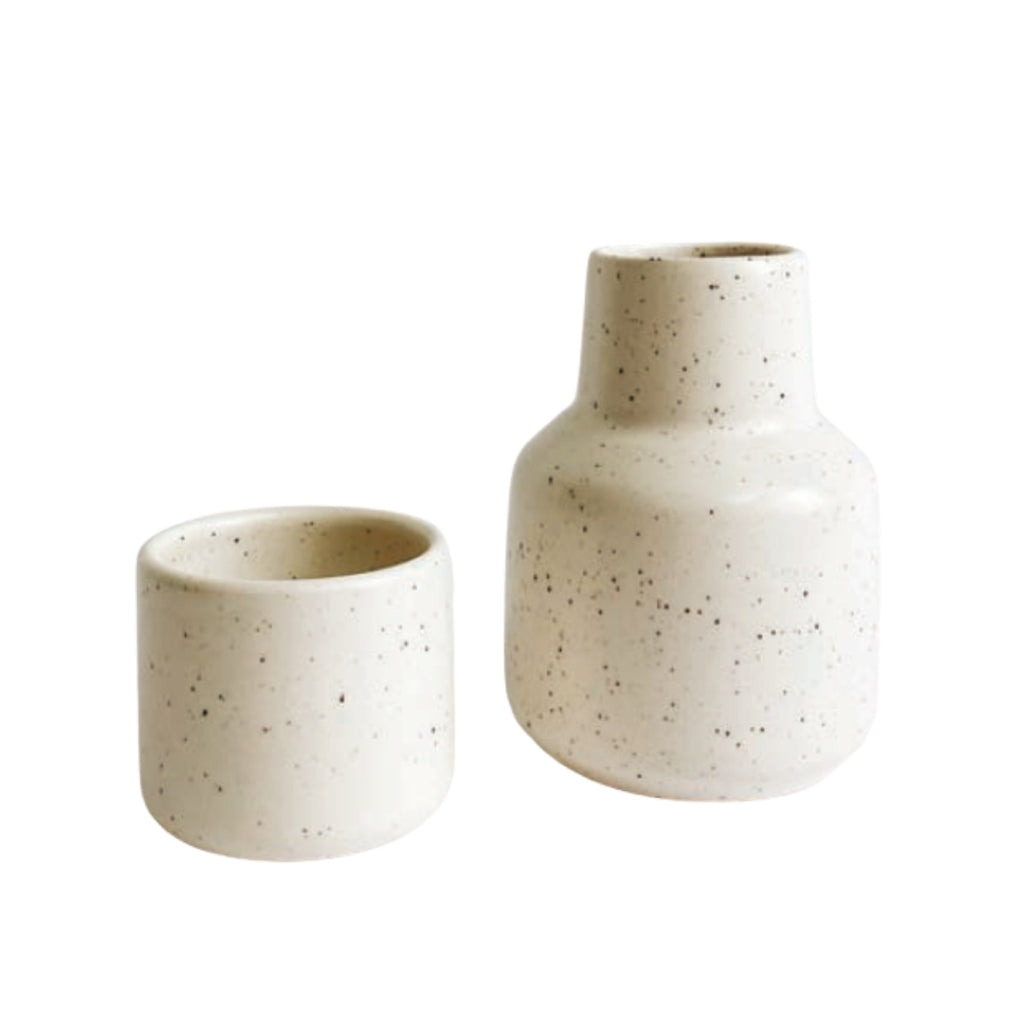 Ceramic Water Carafe and Cup