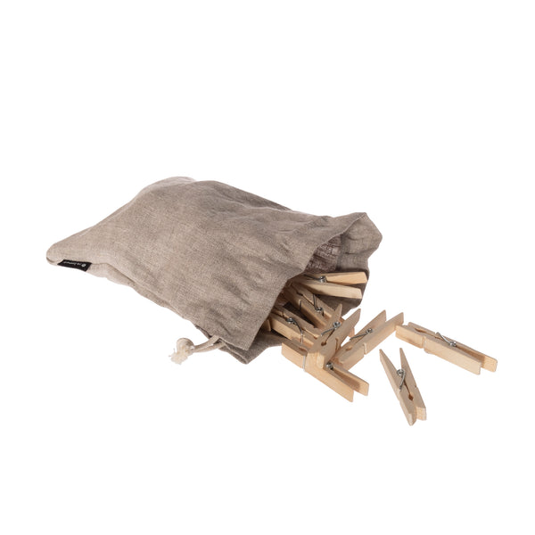 Clothes Pins in Linen Bag