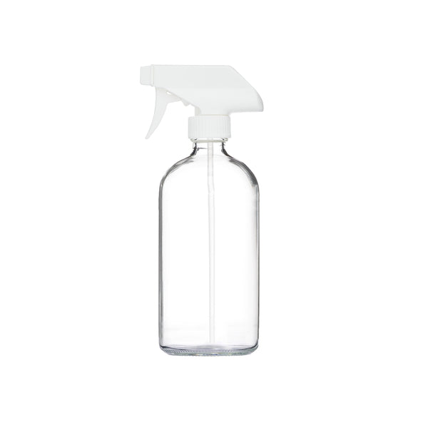 Clear Glass Reusable Spray Bottle 16oz