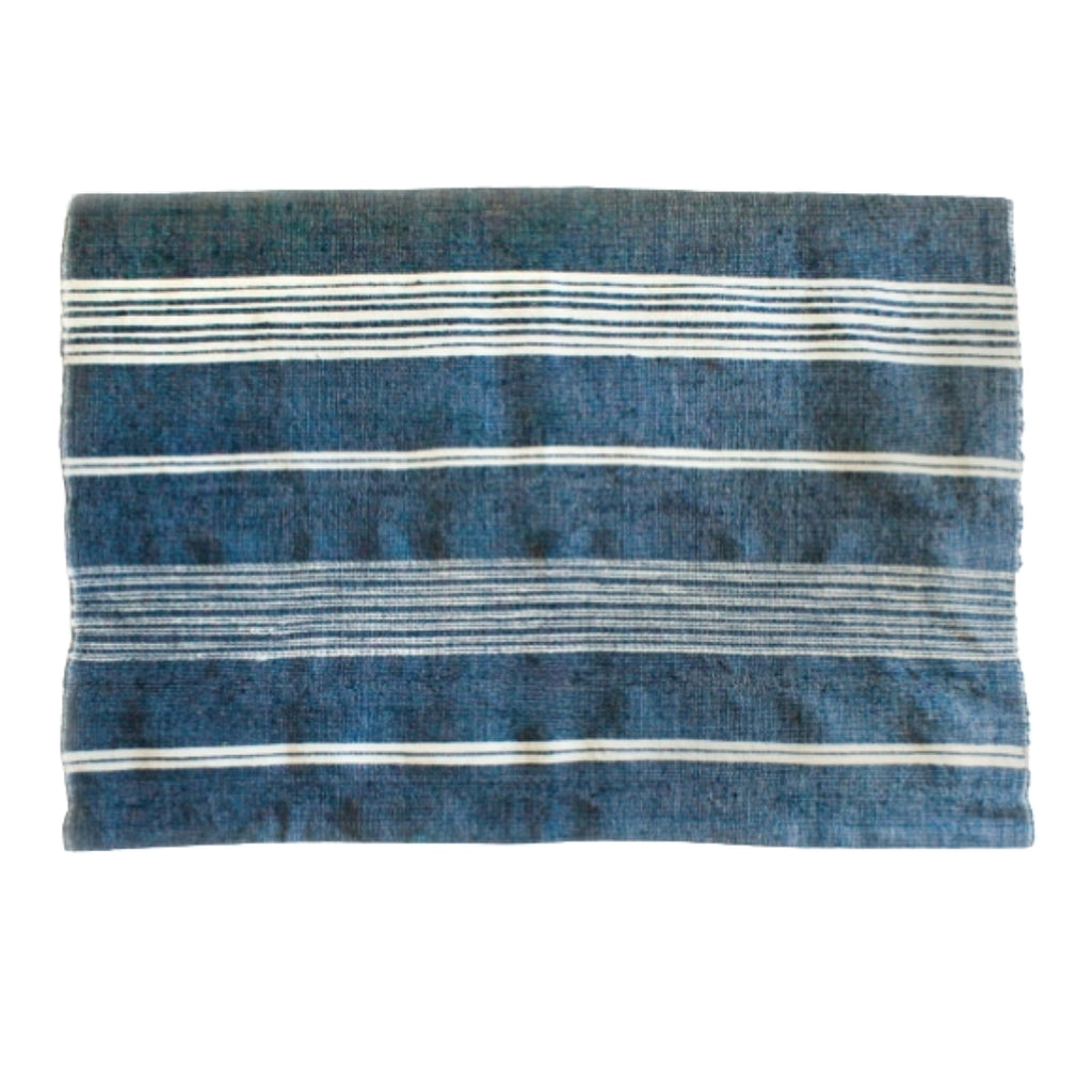 Handwoven Cotton Bath Mat Indigo