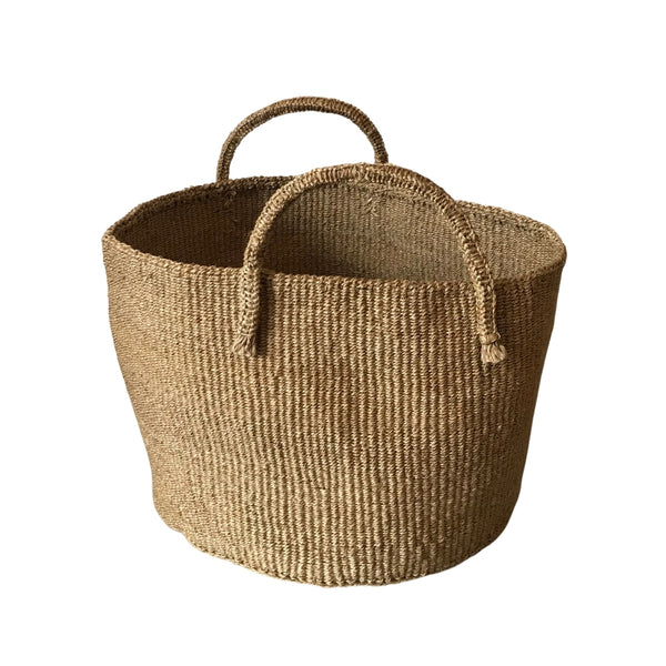 Sisal Round Storage Basket - Natural