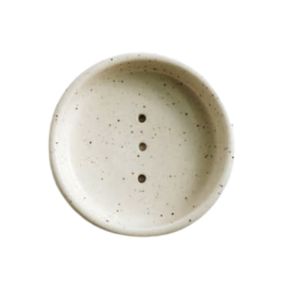 Round Ceramic Soap Dish