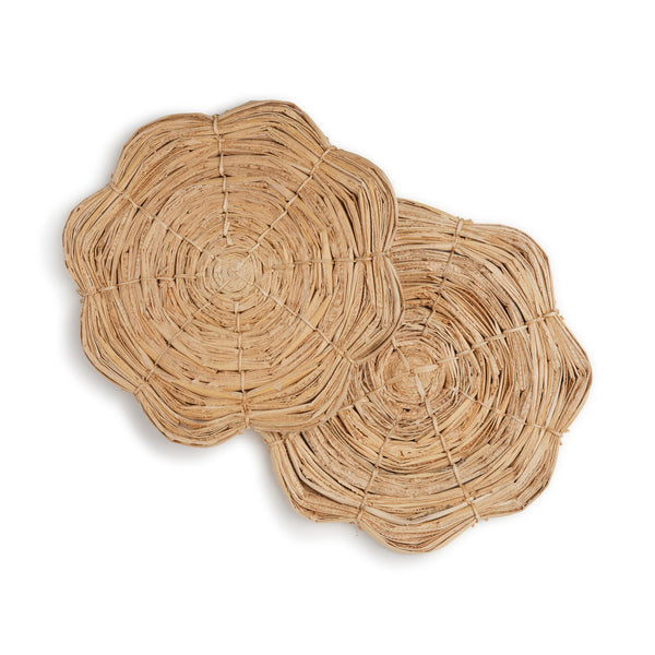 Scalloped Woven Trivet Set (2)