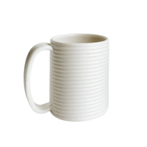 Ceramic Ribbed Oversized Mug