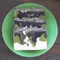 Bonsai Soap Bar | Glitz Soap Co. homemade coffee soap, handmade mens soap, men's vegan bath products, vegan friendly body products for men