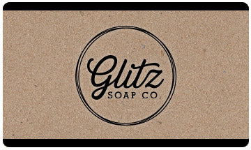 Glitz Soap Co. Gift Card | Glitz Soap Co. vegan soap without palm oil, vegan friendly soap, lovely vegan soap, vegan soap without lye