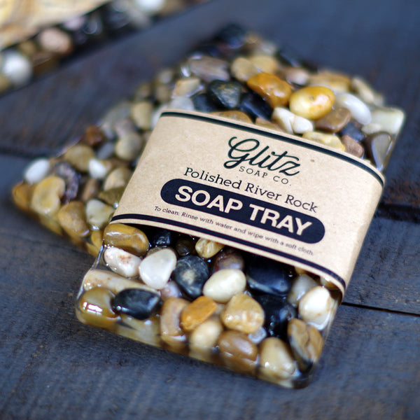 River Rock Soap Bar Tray