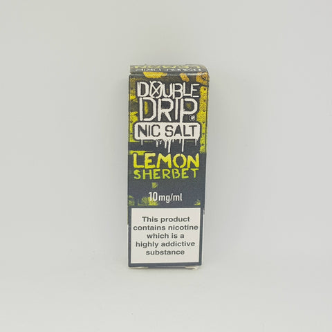 LEMON SHERBET NIC SALTS BY DOUBLE DRIP 10MG 10ML