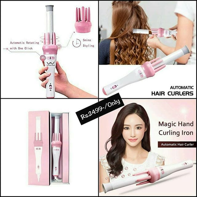 Vivid & Vogue Automatic Electric Rotating Curling Iron With Ceramic Coating curler