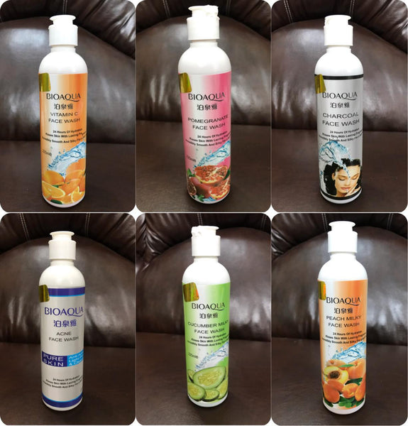 Bio aqua face wash 6 varients are available