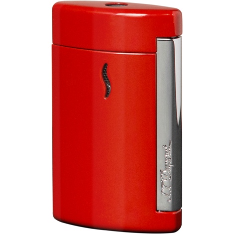S.T. Dupont Minijet Torch Lighter Red Chrome