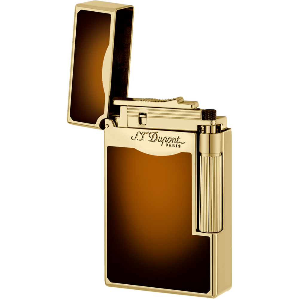"S.T. Dupont ""Le Grand"" Gold Brown Special Flame Lighter"