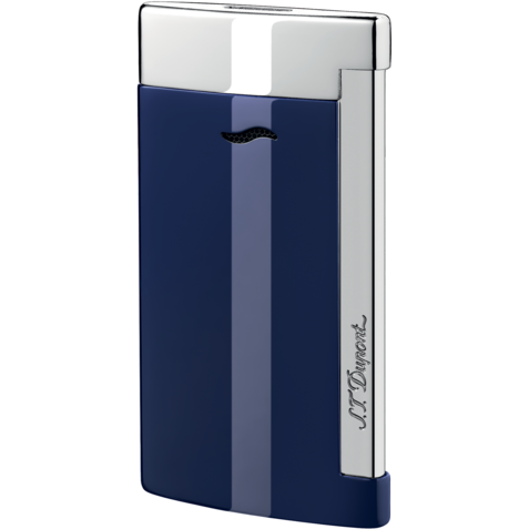 S.T. Dupont Slim 7 Lighter, Blue Lacquer Finish