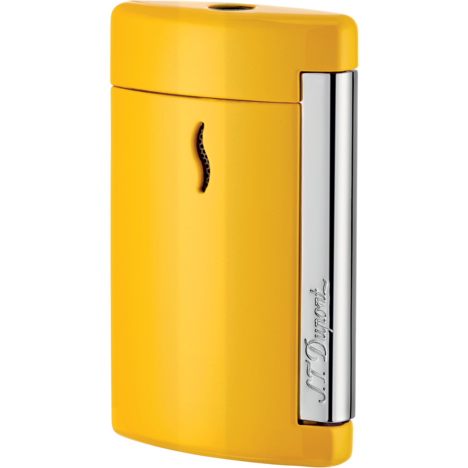 S.T. Dupont Minijet Yellow Pop Lighter Lacquer Chrome Trim
