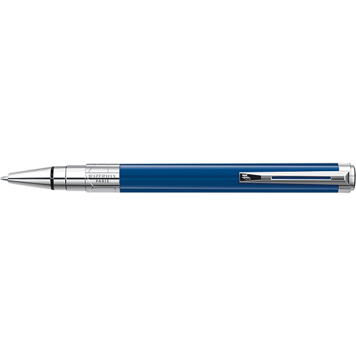 Waterman Perspective Ballpoint Pen Blue w/Chrome Trim
