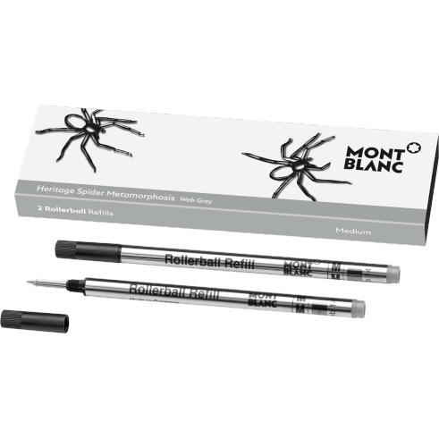 Rollerball Refill (M) Heritage Spider, Grey - Pack of 2