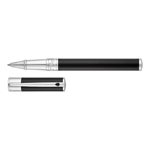 S.T. Dupont D-Initial Black and Chrome Rollerball Pen