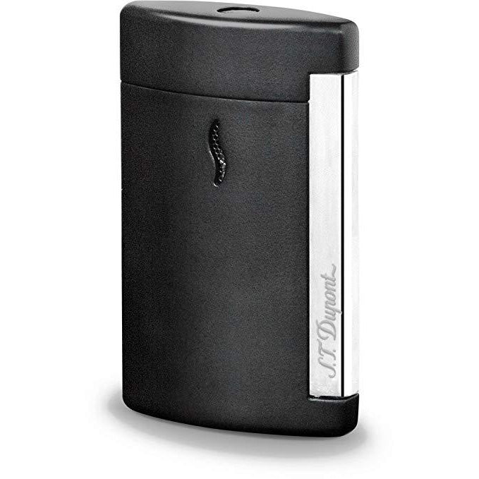 S.T. Dupont MiniJet Matt Black Lighter Chrome Finish
