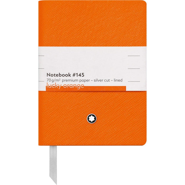 Montblanc Fine Stationery Lined Sketch Book #145 Lucky Orange