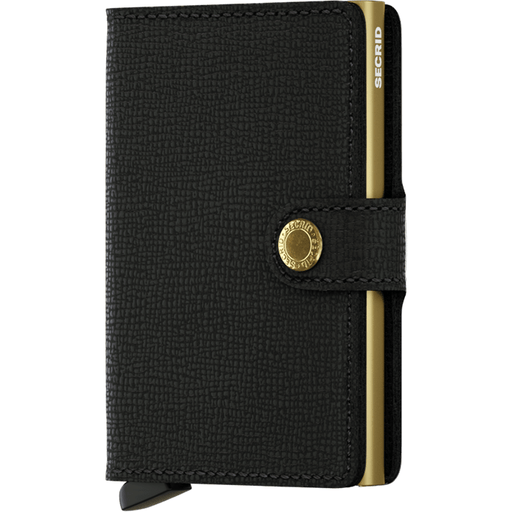 Secrid Mini Wallet Crisple Black-Gold