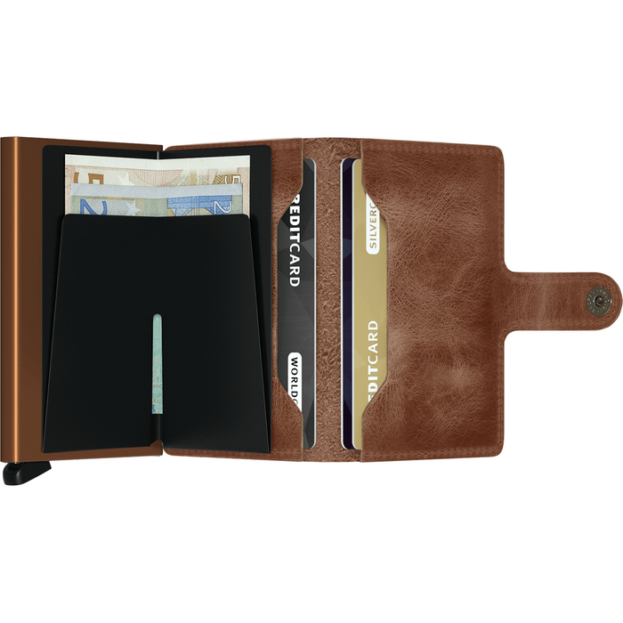 Secrid Mini Wallet Vintage Cognac-Rust