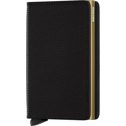 Secrid Slim Wallet Crisple Black-Gold