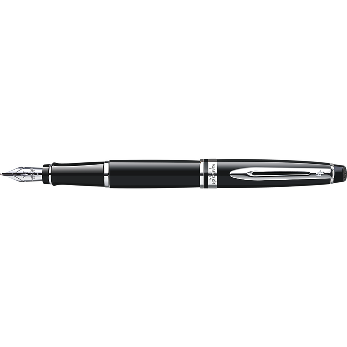 Waterman Expert Fountain Pen Black w/ Chrome Trim