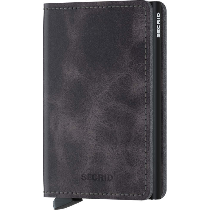 Secrid Slim Wallet Vintage Grey-Black