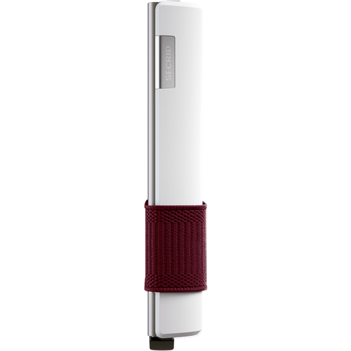 Secrid Card Slide White/Bordeaux