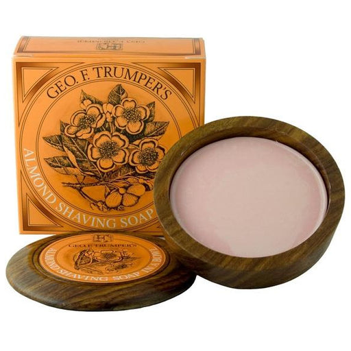 Geo. F. Trumper Almond Shaving Soap w/Wooden Bowl
