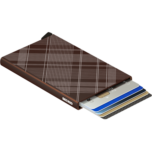 Secrid Card Protector Laser Tartan Brown