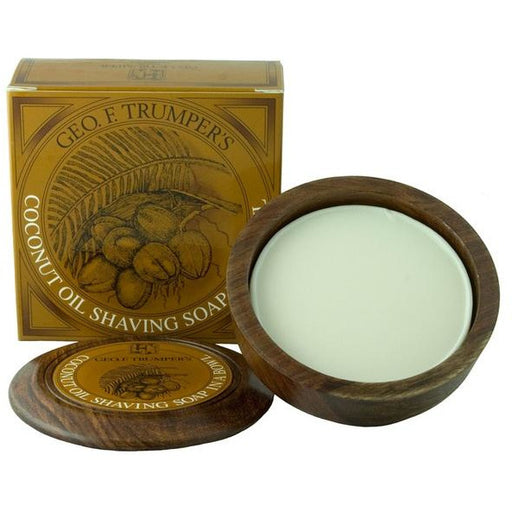 Geo. F. Trumper Coconut Oil Shaving Soap w/Wooden Bowl