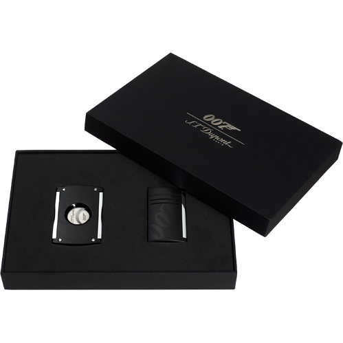 S.T. Dupont Set Maxijet Lighter and Cigar Cutter James Bond 007 - Black