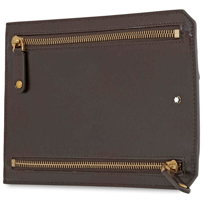 Montblanc 1926 Heritage Multicurrency Pouch- Dark Brown