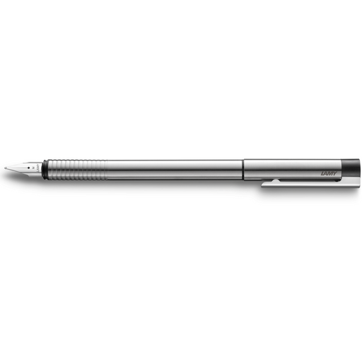Lamy Logo Fountain Pen Steel w/Black Trim