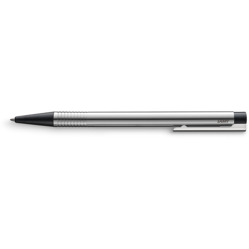 Lamy Logo Ballpoint Pen Steel w/Black Trim