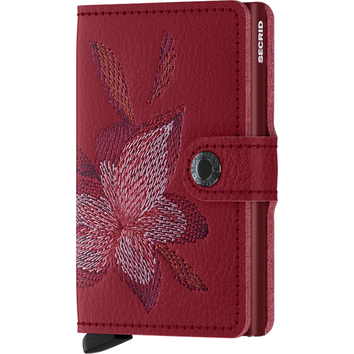 Secrid Mini Wallet Stitch Magnolia Rosso