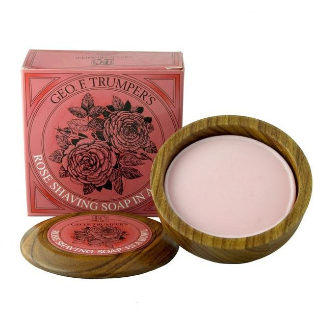 Geo. F. Trumper Rose Shaving Soap w/Wooden Bowl