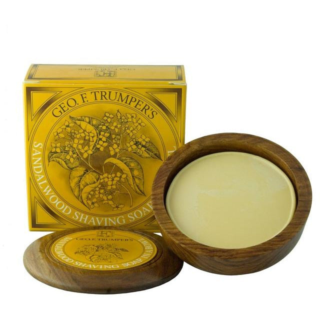 Geo. F. Trumper Sandalwood Shaving Soap w/Wooden Bowl