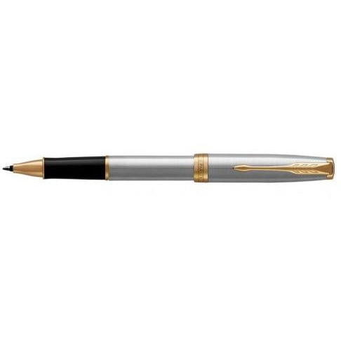Parker Sonnet Rollerball Pen Stainless Steel w/Gold Trim