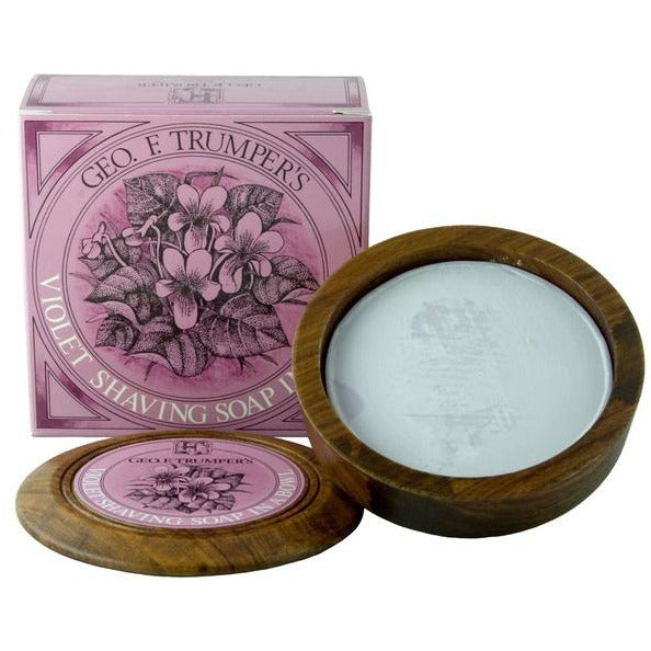 Geo. F. Trumper Violet Shaving Soap w/Wooden Bowl