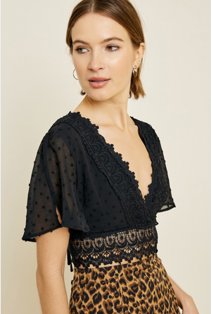 Crochet Lace Crop Top - Sswing Lifestyle Company