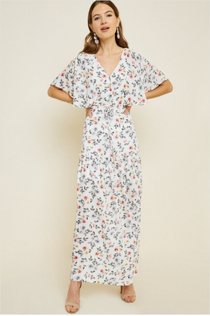 Sale! Floral Tiered Button-Down Maxi Dress - Sswing Lifestyle Company