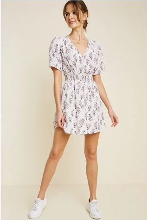 Sale! Floral Smock Waist Mini Dress - Sswing Lifestyle Company