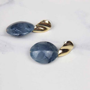 Metal Ocean Blue Water Drop Earring - Sswing Lifestyle Company