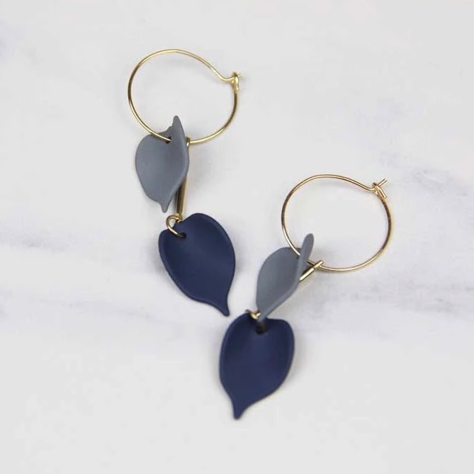 Sale! Elegant Ocean Blue Leaves Hook Earring - Sswing Lifestyle Company