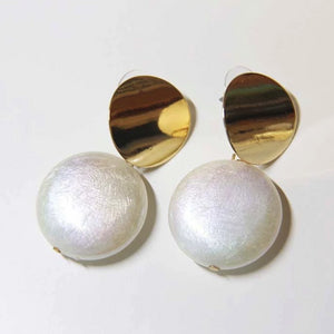 Pearl Collection Metal Round Drop Earrings - Sswing Lifestyle Company