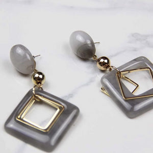 Anti-allergy Geometric Drop Earrings - Sswing Lifestyle Company